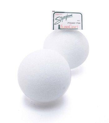 "Styrofoam 4"" Balls-2PK/White"