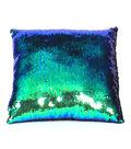 Sequin Pillow 16\u0027\u0027-Blue & Green