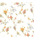 Heidi Peach Floral Trail Wallpaper