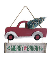 Maker's Holiday Christmas Car Wall Decor-Merry & Bright, , hi-res