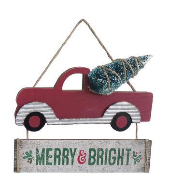 Maker's Holiday Christmas Car Wall Decor-Merry & Bright