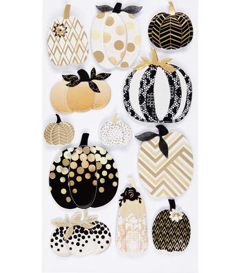 Jolee's Boutique® Metallic Stickers-Pumpkin