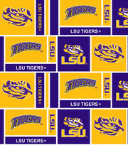 "Louisiana State University Tigers Cotton Fabric 44""-Herringbone Box, , hi-res"