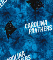 Carolina Panthers Fleece Fabric 58''-Tie Dye, , hi-res