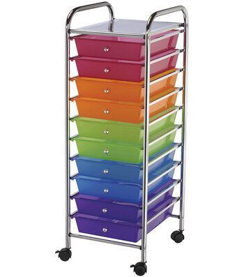 Storage Cart 10 Drawer-Multi Color