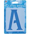 Plaid 43 pk 4\u0027\u0027 Stencils-Genie Letter