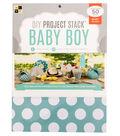DCWV 8-1/2\u0022x11\u0022 DIY Project Stack: Baby Boy