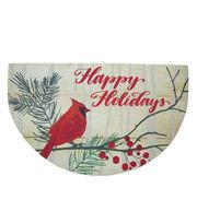 Maker's Holiday Christmas Semi-circle Rubber Mat-Happy Holidays/Cardinal, , hi-res