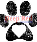 Pawprint -deep Red Cling Stamp