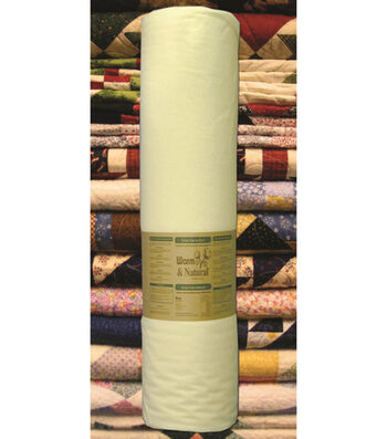 """The Warm Company Warm & Natural King Size 124"""" Cotton Quilt Batting"""