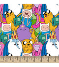 Cartoon Network Adventure Time Packed Character Cotton Fabric