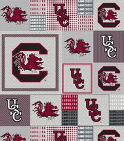"University of South Carolina Gamecocks Fleece Fabric 58""-Gray Block, , hi-res"