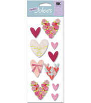 A Touch of Jolees Dimensional Stickers-Loving Hearts, , hi-res
