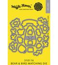 Waffle Flower Die-Bear & Bird