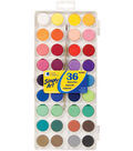 Simply Art Watercolor Paint Cakes 36Pk-Assorted Colors