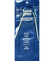 "Susan Bates Quicksilver Circular Knitting Needles 16""-Size 7, , hi-res"