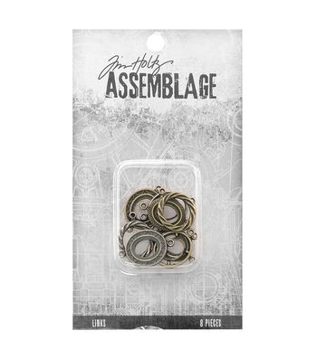Tim Holtz® Assemblage Pack of 8 Ornate Oval Links
