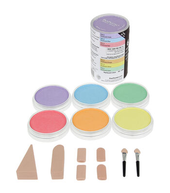 PanPastel Pearlescent Artist Pastels Set 9ml 6/Pkg-Yellow,Green,Orange,Blue,Red and Violet