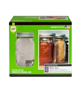 Ball® 4 Pack 4 oz. Mini Storage Jars