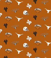 "University of Texas Longhorns Cotton Fabric 44""-Orange All Over, , hi-res"