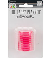 "Create 365 Planner Discs-Clear Hot Pink 1.2"", , hi-res"