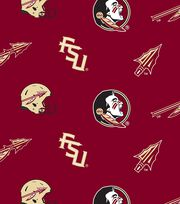 "Florida State University Seminoles Fleece Fabric 58""-All Over, , hi-res"