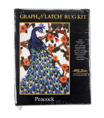 "Latch Hook Kit 27""X40""-Peacock"