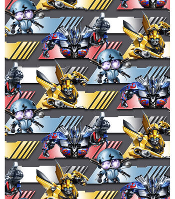 """Transformers Movie Cotton Fabric 43""""-Autobot Strong"""