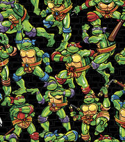 Teenage Mutant Ninja Turtles® Cotton Fabric 43''-Turtles Toss, , hi-res
