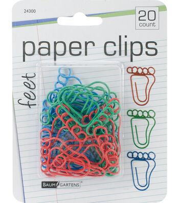 """Baumgartens 1"""" Paper Clips-Feet"""