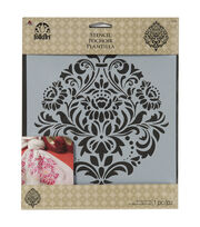 "FolkArt® 8.5""x9.5"" Craft Stencil Value Pack 3pk-Damask, , hi-res"