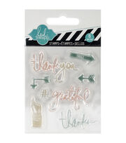 "Heidi Swapp Mixed Media Clear Mini Stamps 3""X3.5""-Thank You, , hi-res"