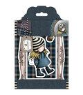 Santoro Gorjuss Tweed Rubber Stamps-The Friendly Hedgehog