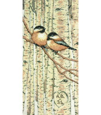 """Love Birds Counted Cross Stitch Kit-7""""X14"""" 14 Count"""