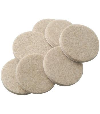 SoftTouch 20 pk 0.75'' Self-Stick Furniture Felt Pads-Oatmeal