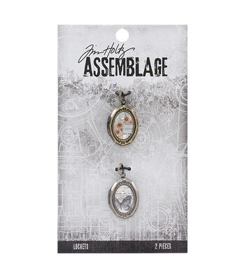 Tim Holtz® Assemblage 2 Pack 0.75'' Domed Oval Lockets