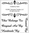 Technique Tuesday Clear Stamps 2\u0022X2.5\u0022-Created By Hand
