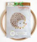 Hedgehog Hand Embroidery Wall Art Kit