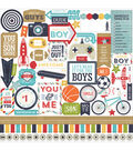 Echo Park Paper Company That\u0027s My Boy Cardstock Stickers Element