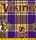 Minnesota Vikings Fleece Fabric 58\u0027\u0027-Plaids