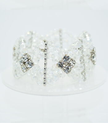 Crystal Diamond Style Bracelet-Clear Shine