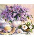 Collection D\u0027Art Diamond Embroidery/Printed/Gem Kit 48X38 cm-Lilac