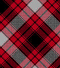 Snuggle Flannel Fabric 42\u0022-Annie Plaid Red