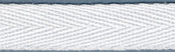 "Twill Tape 1/2"" Wide 18 Yards-White"