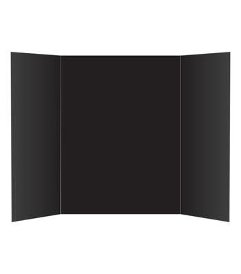 Tri-Fold Display Board 36x48 - Black 1 Ply