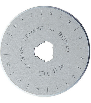 Olfa 45mm 2pk Straight Rotary Blade