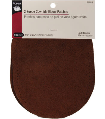 Dritz 4.75''x6.5'' Suede Cowhide Elbow Patches