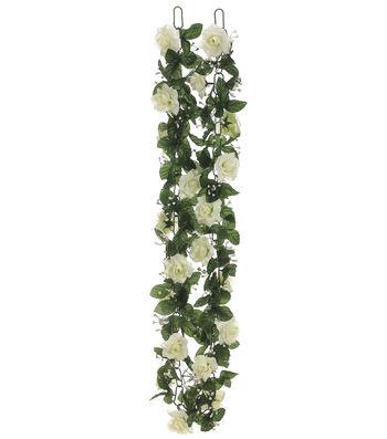 Cream Rose Chain Garland