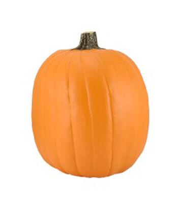 Fun-kins™ Halloween 14'' Artificial Carvable Pumpkin-Orange