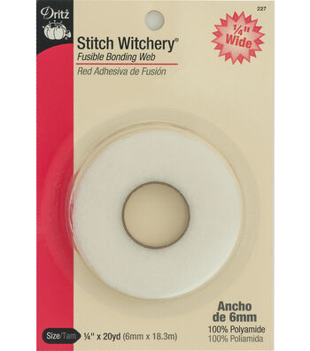 "Dritz Stitch Witchery Fusible Web-1/4"" x 20yds"